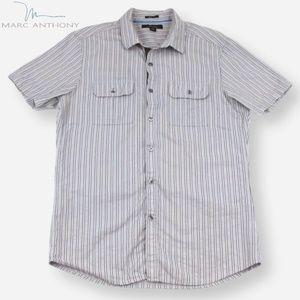 Marc Anthony Men's Striped Slim-Fit Shirt, Size M